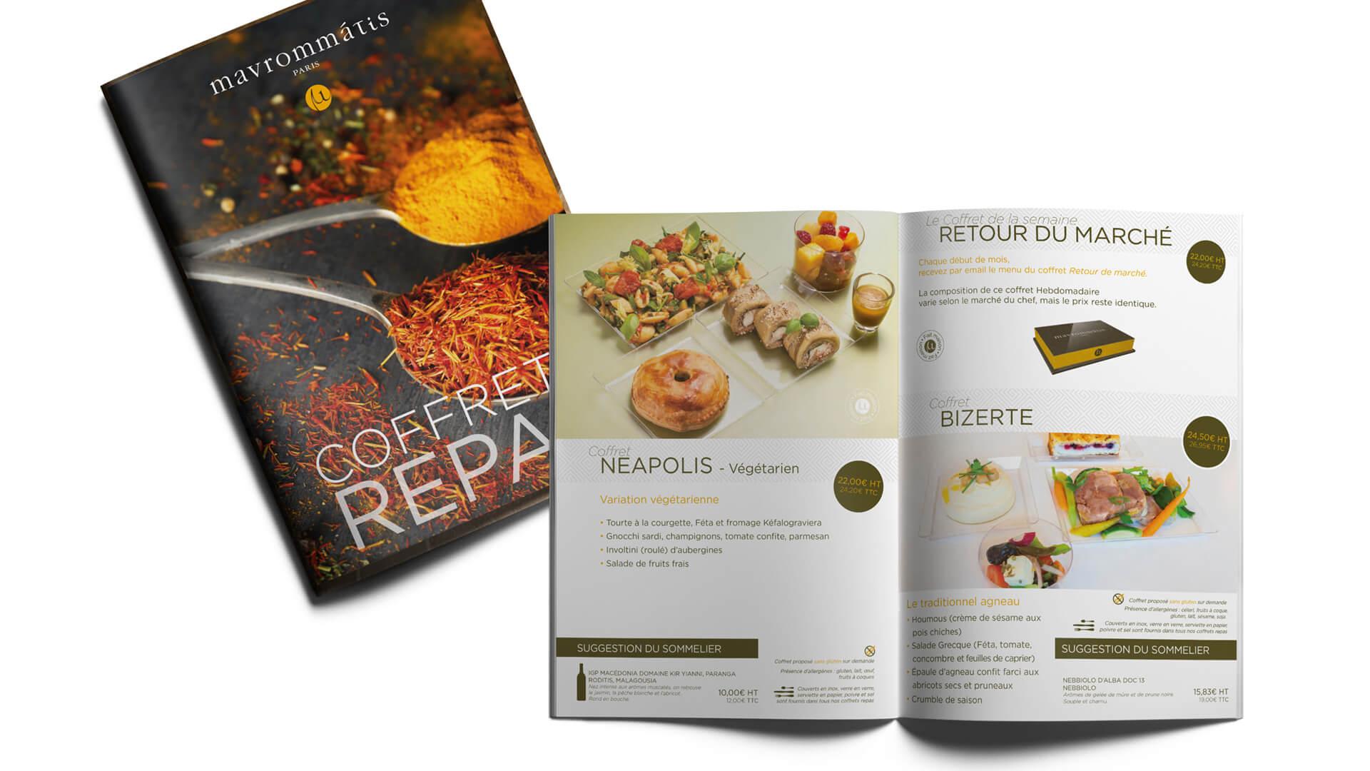 Catalogue coffret repas