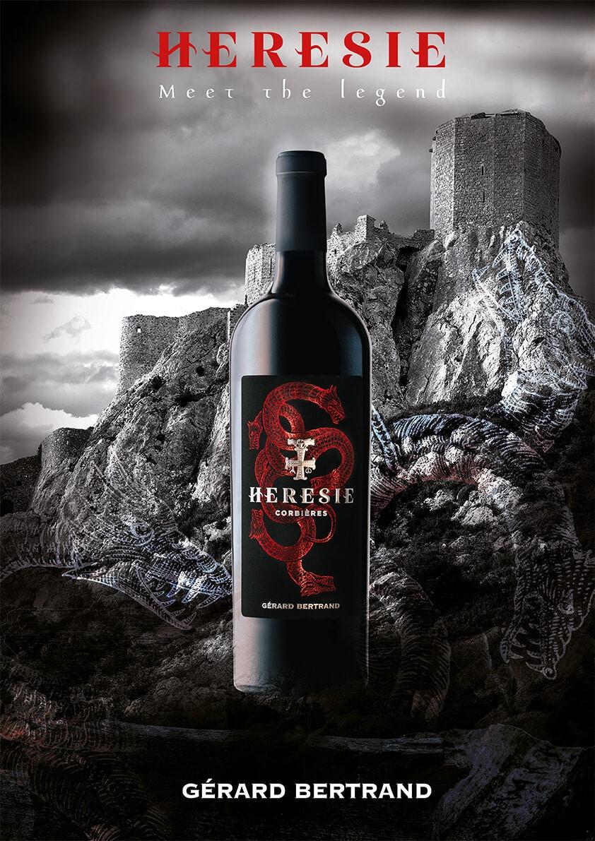 Identité pour bouteille de vin avec Brunch Créative